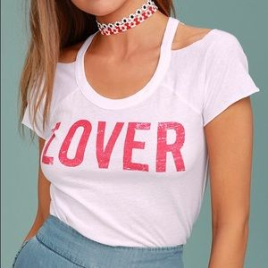 """""""Lover"""" cut out tee by Chaser!"""